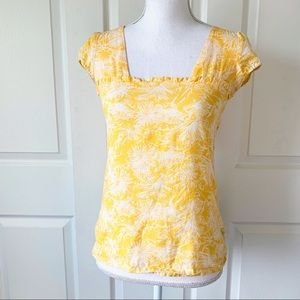 Volcom Yellow Floral Blouse